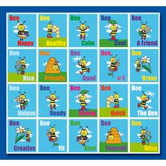Stammetjes Stickervel Bee Happy