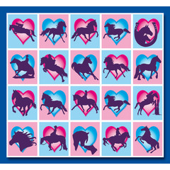 Stammetjes Paardjes in Hartjes - Stickervel