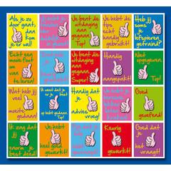 Stammetjes Duimen Complimenten - Stickervel