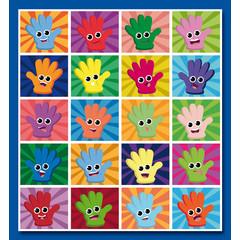 Stammetjes Happy Hands - Stickervel