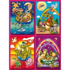 A5 Grote kaarten Dino's