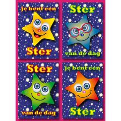 A5 Grote ansichtkaaren sterren met complimenten