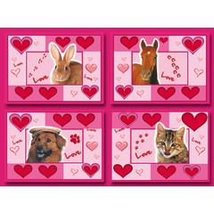A5 Grote ansichtkaarten love animals