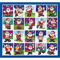 Stammetjes Stickervel kerstmannen