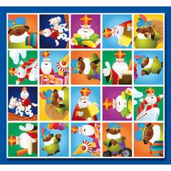 Stammetjes Sint en Piet - Stickervel