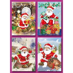 A6  Prentkaarten kerstmannen