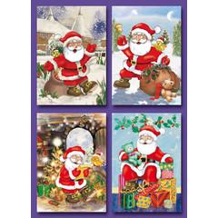 Kleine kaarten 'vrolijke kerst'