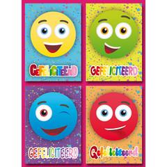 A5 Grote kaarten felicitatie smileys