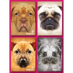 A5 Grote kaarten dog faces