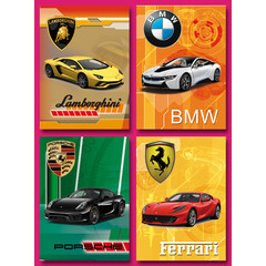 Grote ansichtkaarten 'snelle' auto's