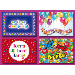 Gefeliciteerd - Verjaardag - Prentkaarten