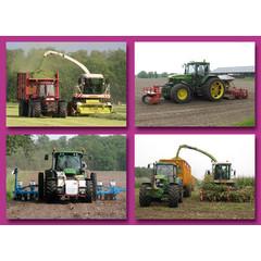 Prentkaarten landbouwvoertuigen