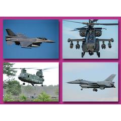 Vliegend defensie materieel - Prentkaarten