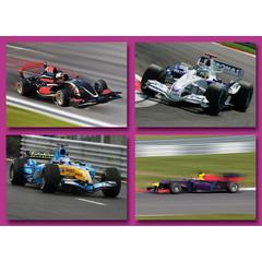 Prentkaarten race auto's