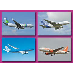A6 Prentkaarten vliegtuigen