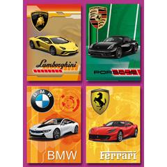 A6 Prentkaarten sportauto's
