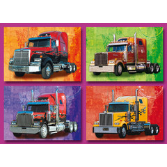 Prentkaarten vrachtauto's