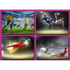 A6 Prentkaarten voetballers