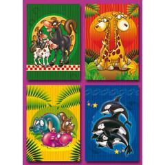 A6 Prentkaarten grappige dieren