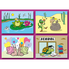 A6 Prentkaarten Funny Reptiles