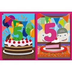 A5 Grote kaarten felicitaties voor 5 jaar