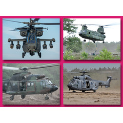 A5 Grote kaarten legerhelikopters