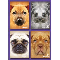 A7 Kleine kaarten dog faces