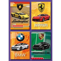 Kleine kaarten luxe auto's