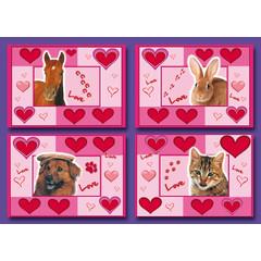 Kleine kaarten 'love animals'