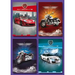 Kleine kaarten auto's en motoren