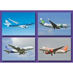 Kleine kaarten lijnvliegtuigen