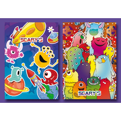 A7 Kleine kaarten vrolijke scary's