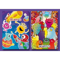 Kleine kaarten vrolijke scary's