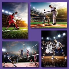 Kleine kaarten sport en sporters