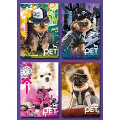 Kleine kaarten hondjes voor op de foto