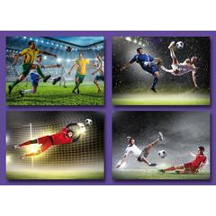 Kleine kaarten voetbalbeelden