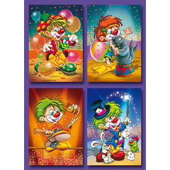 Kleine kaarten clowntjes