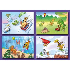 A7 Kleine kaarten grappig getekende dieren