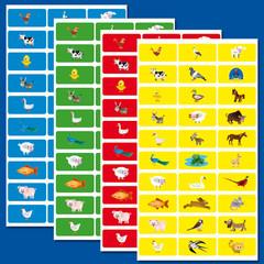 Stammetjes Picto's van dieren - Stickervel