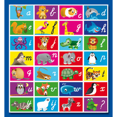 Stammetjes Stickervel alfabet