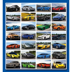 Stammetjes Supercars - Stickervel