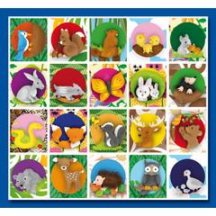 Stammetjes 'Lief' getekende  bosdieren - Stickervel