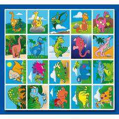 Stammetjes Dino's - Stickervel