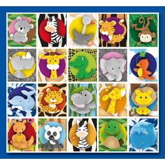Stammetjes Lief getekende  'Wilde Dieren' - Stickervel