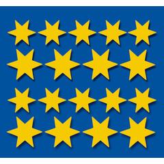 Stammetjes Stickervel gouden sterren