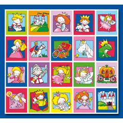 Stammetjes Prinsen en Prinsessen - Stickervel