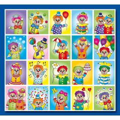 Stammetjes Stickervel clowns