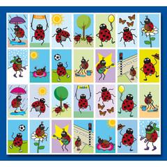 Stammetjes Lieveheersbeestjes - Stickervel