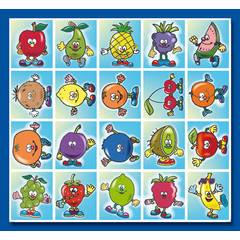 Stammetjes Stickervel 'fruitjes'