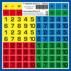 Stammetjes Stickervel cijfers